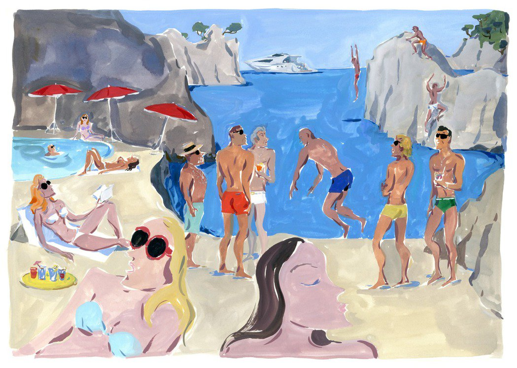 藝術家Jean-Philippe Delhomme的「POSTCARD如畫景致」...