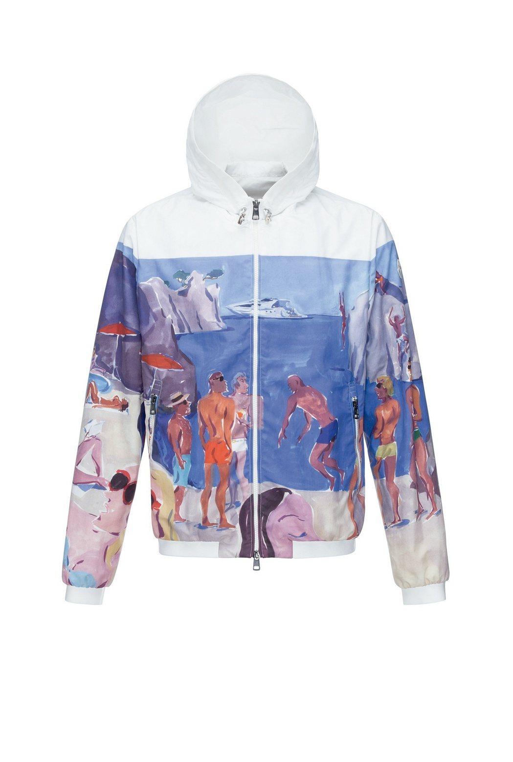 POSTCARD如畫景致系列水彩塗鴉Giubotto薄外套,價格店洽。圖/MON...