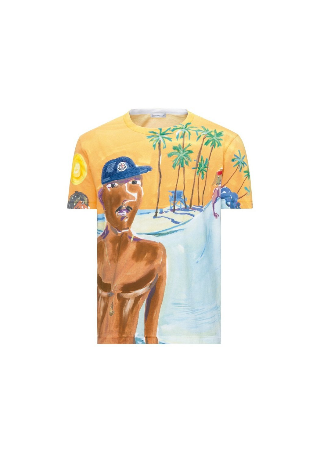POSTCARD如畫景致系列水彩塗鴉T恤,售價21,300元。圖/MONCLER...