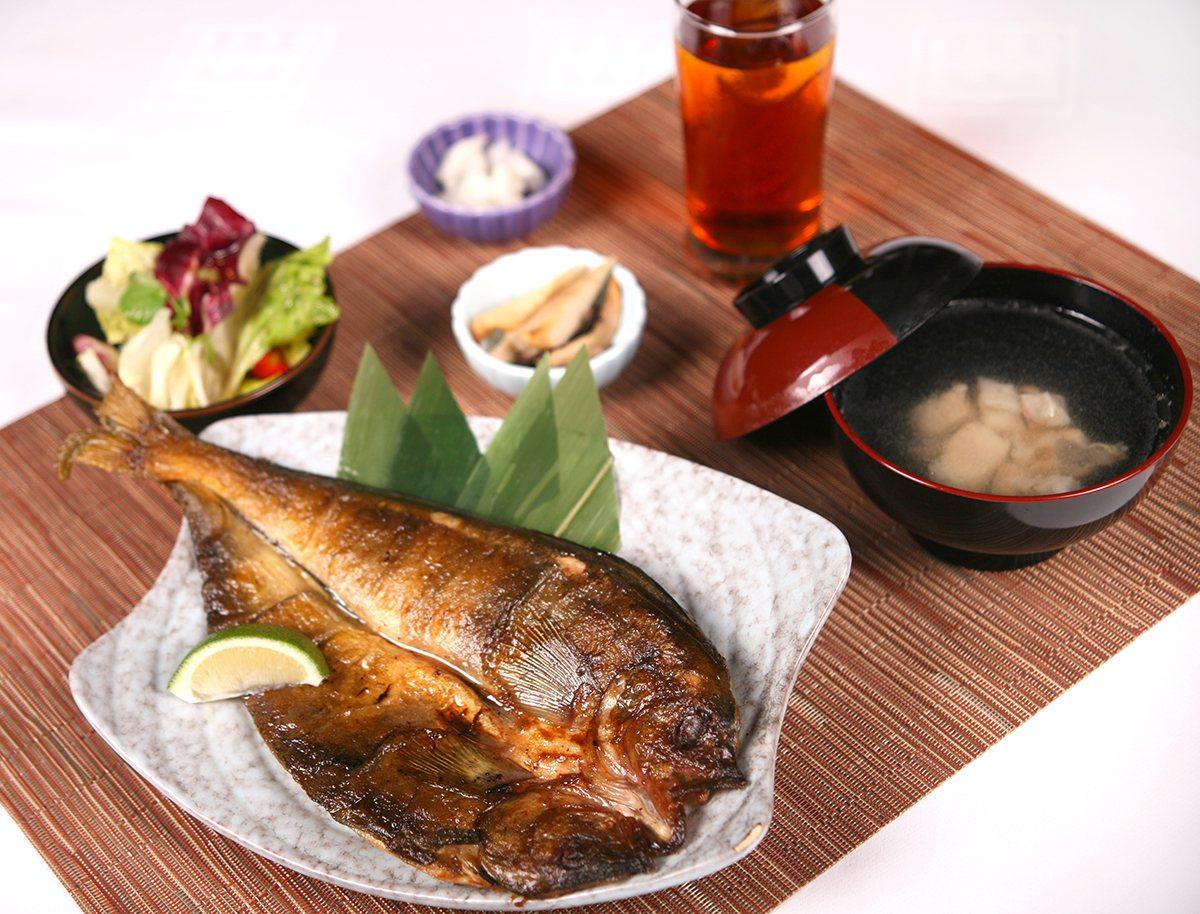 炭烤花魚定食。圖由新竹國賓提供