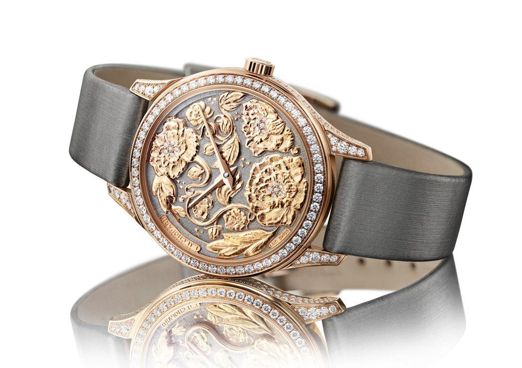 蕭邦L.U.C XP Esprit de Fleurier Peony腕錶,35...
