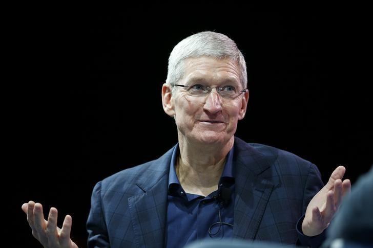 蘋果CEO Tim Cook。圖/路透