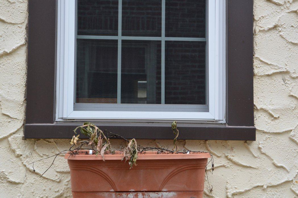 川普舊居無人居住已久,門窗上都有鐵鏽,一些房外裝飾也有損壞。(記者牟蘭/攝影)