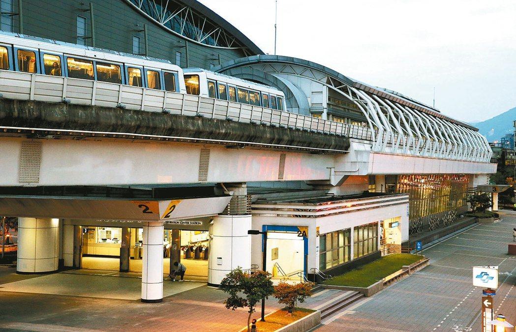 台北捷運南港展覽館站均價下滑最重。 報系資料照