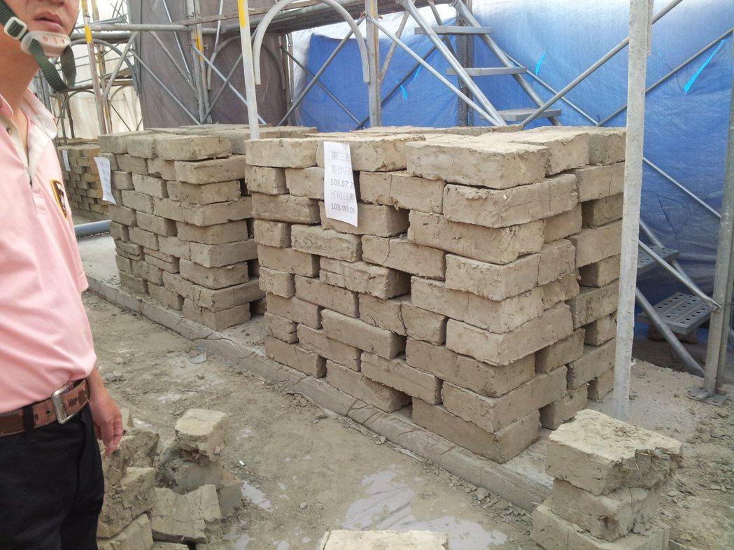 台中林懋陽故居修復完成,今重新開放;為重現歷史風貌,修復團隊自製上千塊土角磚。圖...