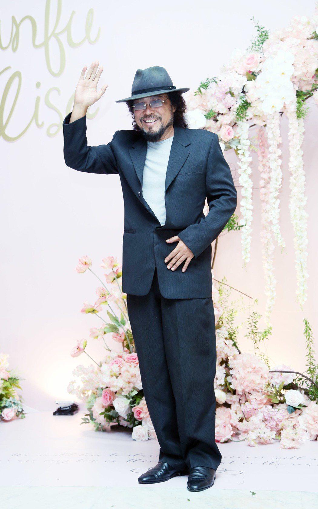 張菲昨天出席愛紗婚禮。記者陳瑞源/攝影