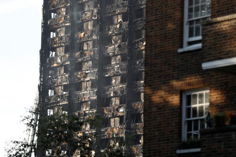 格蘭菲塔公寓大火58失蹤者恐已罹難。路透