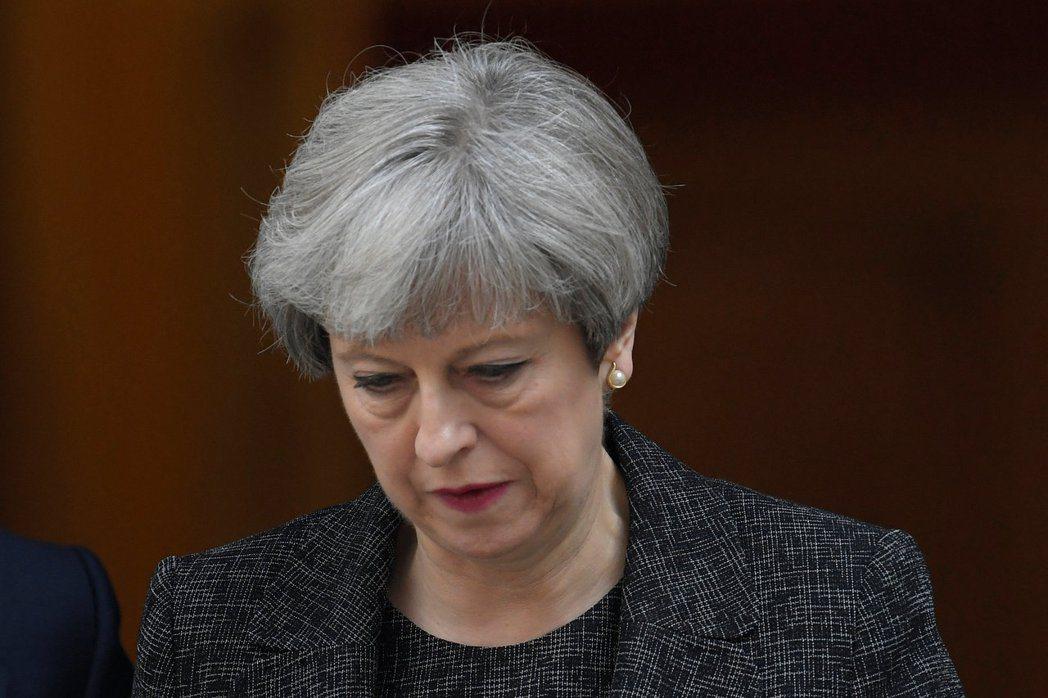 英國首相梅伊。(路透)