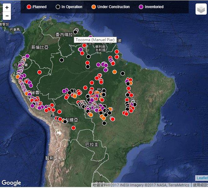 圖說:研究指出,準備在亞馬遜盆地興建的水力發電大壩,可能對生態造成不可挽回的浩劫...
