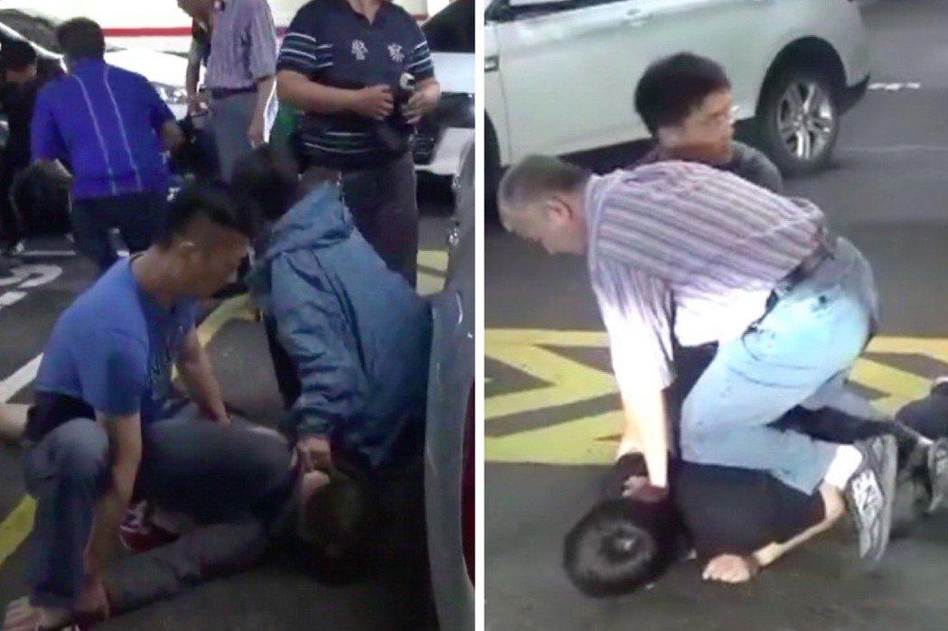 藥頭尋仇後,隨即遭警方壓制逮捕。記者蕭雅娟╱翻攝