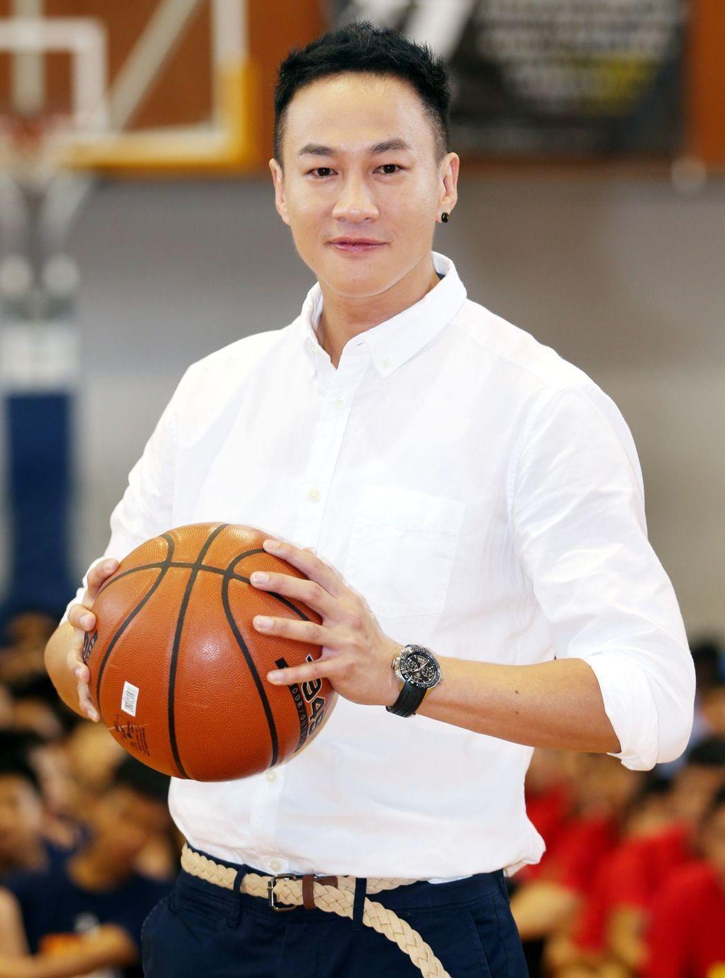 何潤東喜愛打籃球。記者侯永全/攝影