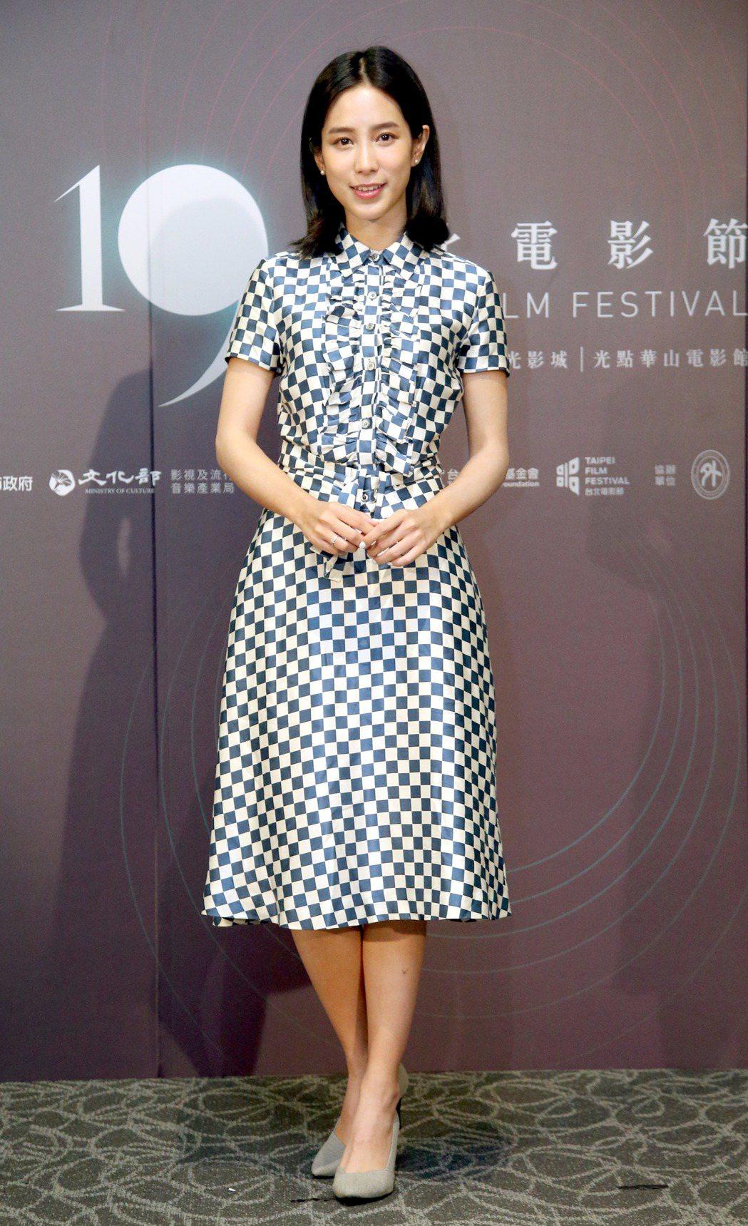台北電影節電影大使溫貞菱。記者屠惠剛/攝影