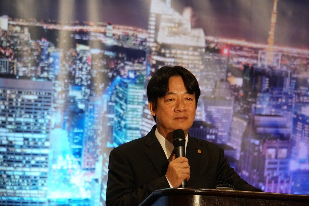 台南市長賴清德應邀到美國紐約北美洲台灣商會聯合總會演講,強調他的親中愛台論述。圖...