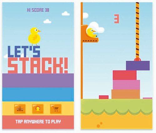 疊方塊遊戲「Lets Stack!」。 圖/擷自iTunes
