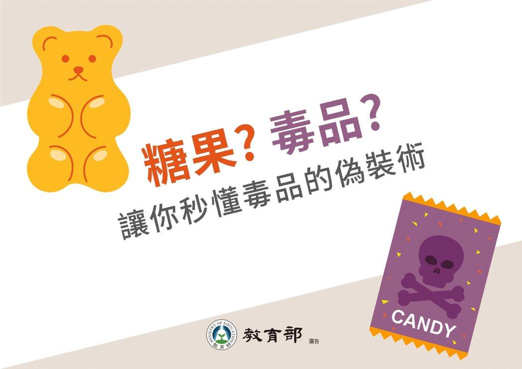 教育部開發新興毒品辨識懶人包。 記者馮靖惠/翻攝