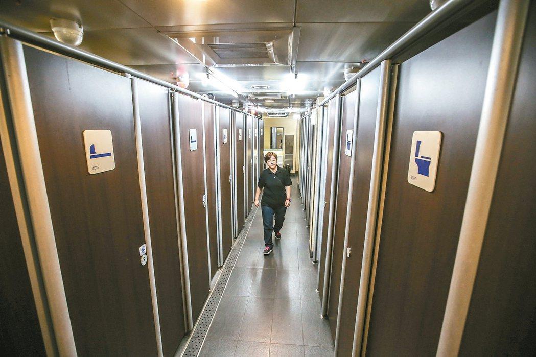 台北車站六星級廁所(女廁)。 記者楊萬雲/攝影