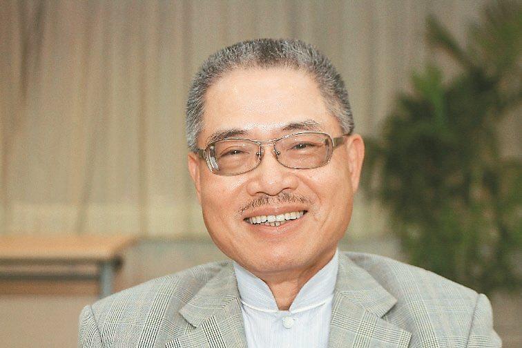 絲織公會名譽理事長林文仲。 本報系資料庫。