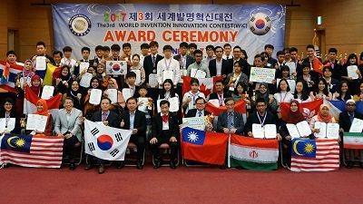 2017年韓國Wic世界創新發明大賽,台灣代表團首次參加即拿下10金、6銀、3銅...