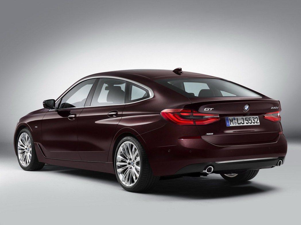 BMW 6GT時尚感具加的外觀。 摘自BMW
