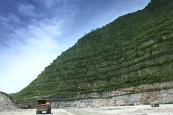 亞泥強調的階梯狀植生綠化成果,真的能夠讓生態環境復舊嗎?或只是讓山上看起來「綠綠的」? 圖/亞泥提供