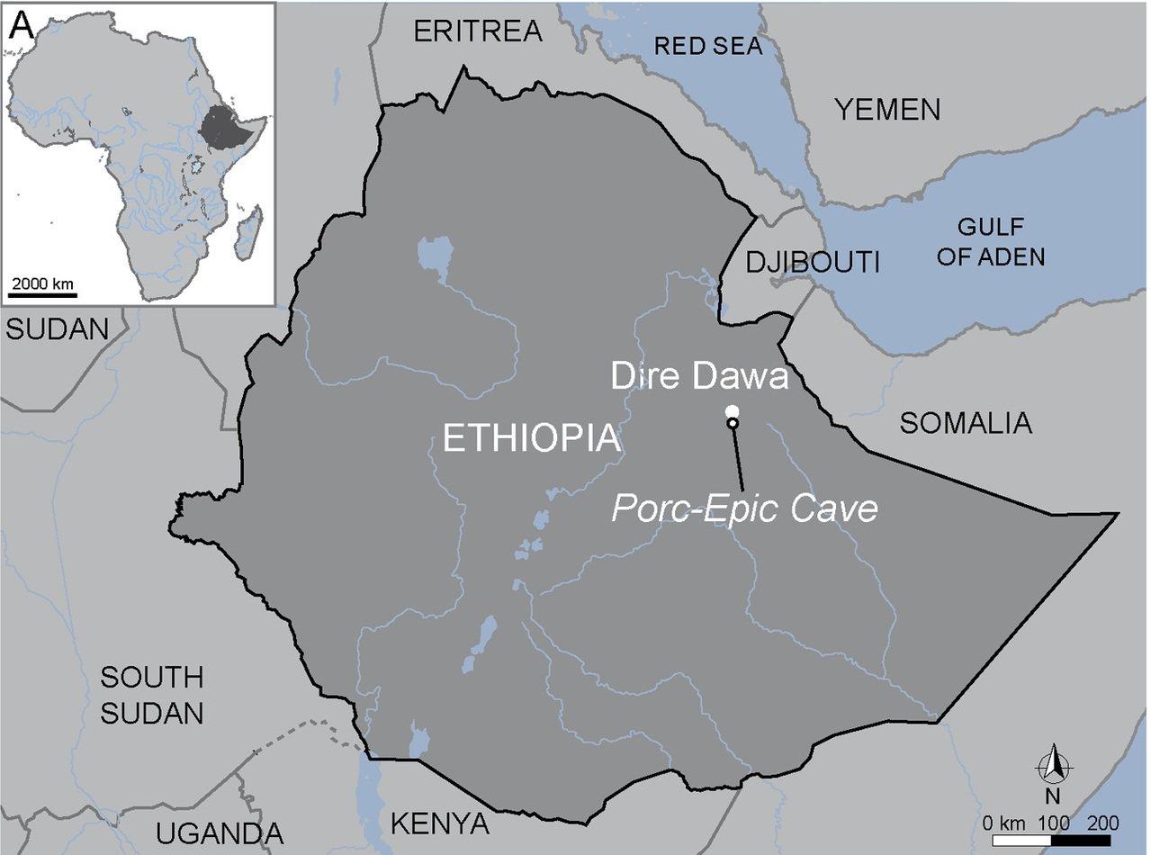 Porc-Epic洞穴位在東非衣索比亞。