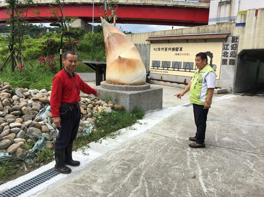 汐止江北里的文化藝廊每次下雨都會積水,目前排水設施已經改善完成,不再淹水了,讓民...