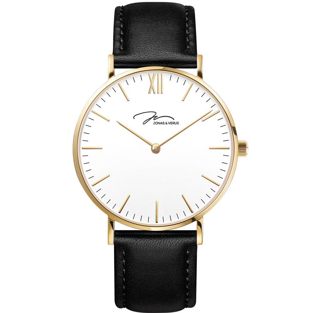 J&V極簡系列玫瑰金款腕表,約4,500元。圖/瑞德利提供。