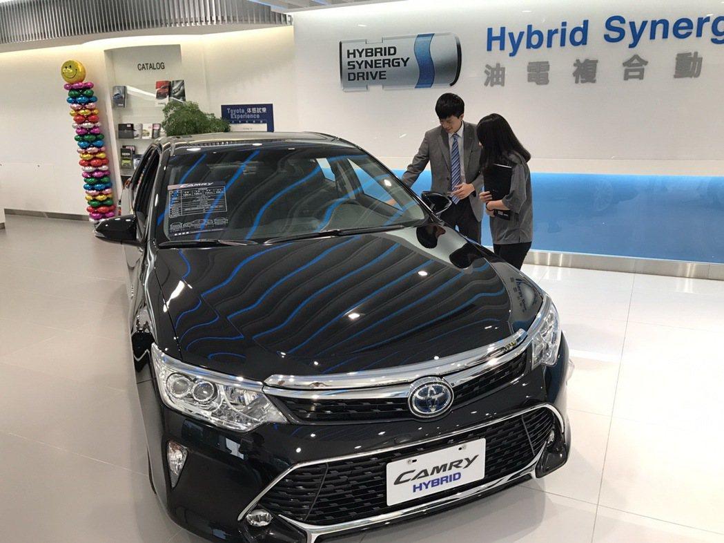 TOYOTA Camry Hybrid是台灣中大型房車霸主。圖/和泰汽車提供