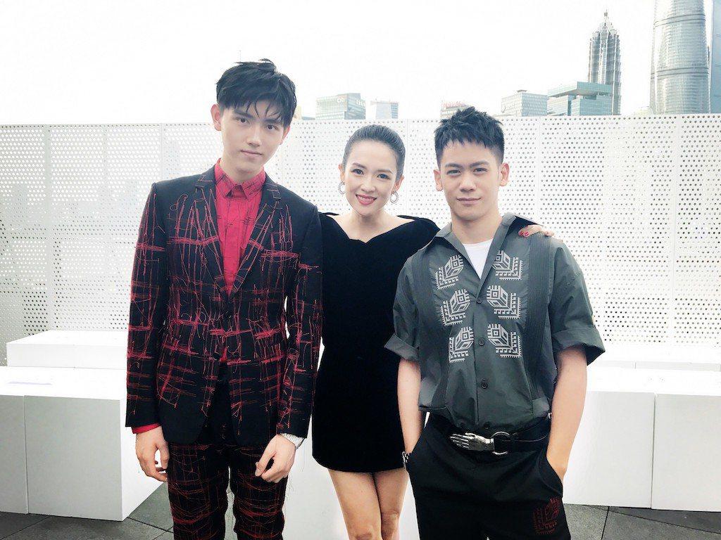 陳飛宇(左起)、章子怡及李淳。圖/星城提供