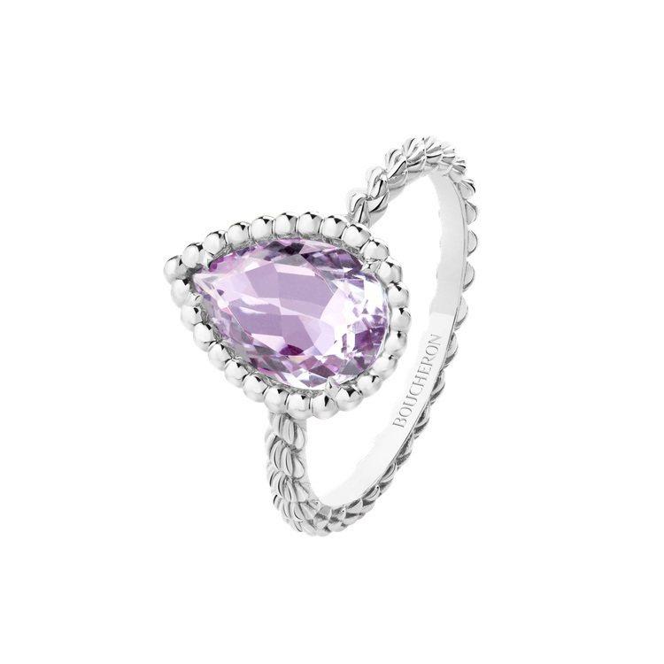 Serpent Boheme白K金戒指鑲嵌紫水晶1.53克拉,67,500元。圖...