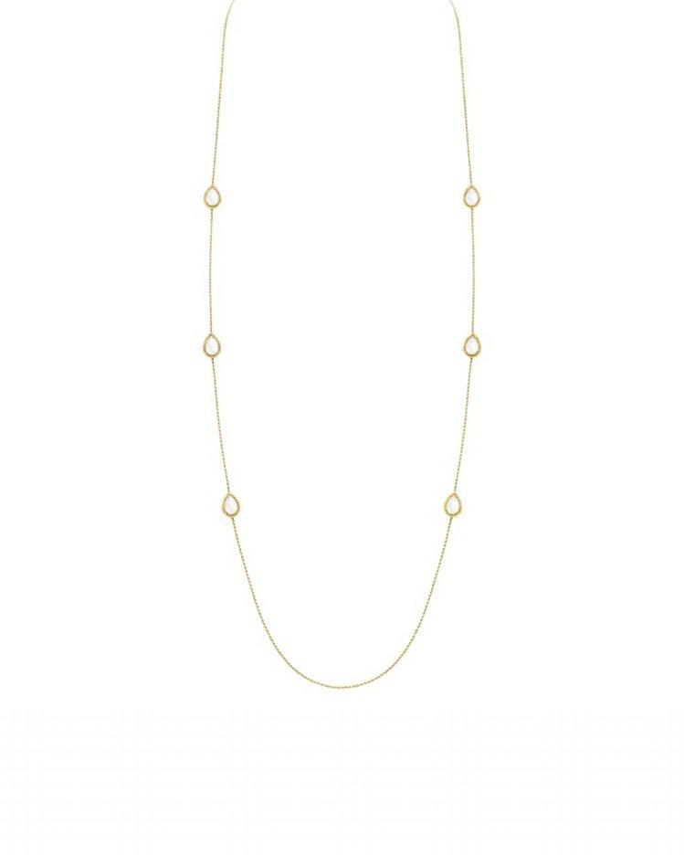Serpent Boheme系列黃K金長項鍊鑲嵌6顆珍珠母貝10.21克拉,26...