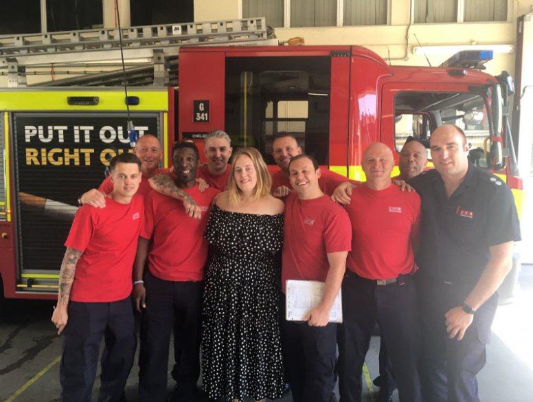 圖/擷自倫敦消防局(London Fire Brigade)推特。