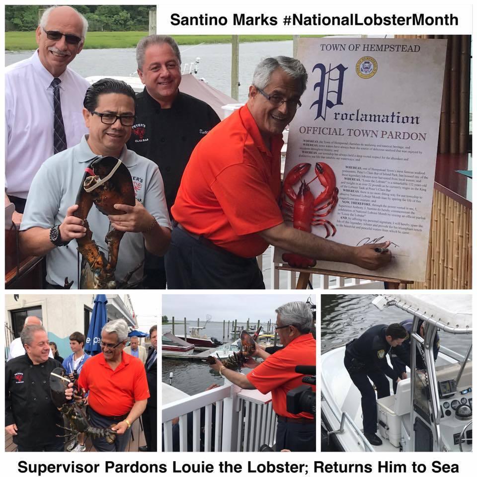 當地官員Santino簽特赦證書,讓路易可以回海洋安享晚年。圖擷自Santino...