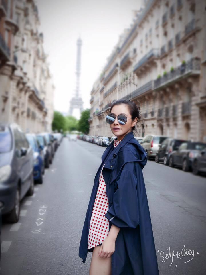 陳怡蓉與老公受邀赴巴黎觀賞法國網球公開賽。 圖/擷自臉書。
