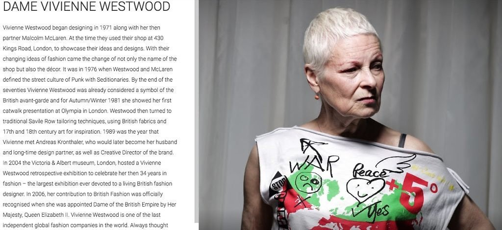 Vivienne Westwood 的詳細介紹。圖/INSIDE(Google)
