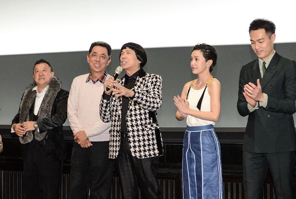 導演朱延平曾經與豬哥亮合作兩集「大尾鱸鰻」系列電影。左起:曾志偉、朱延平、豬哥亮