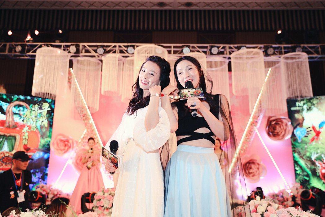 張庭(左)過生日,好朋友陶虹來慶祝。圖/TST庭秘密提供