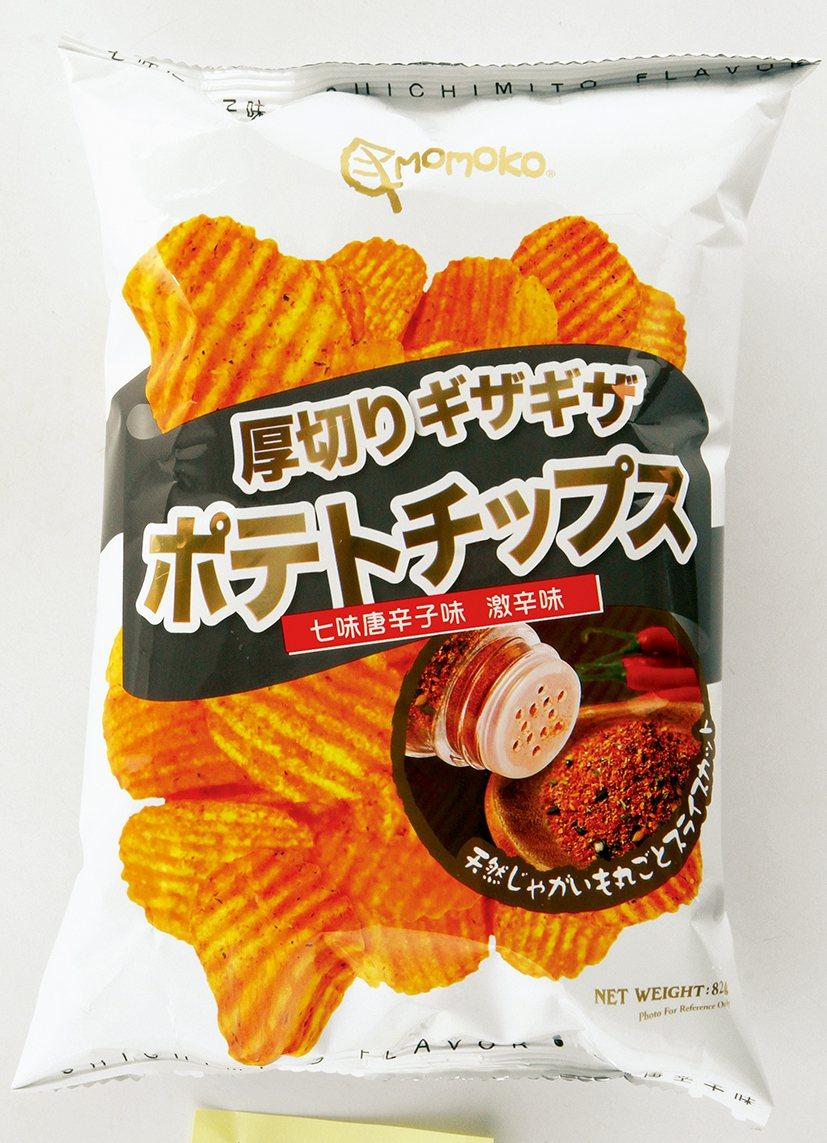 頂好獨家MOMOKO洋芋片七味唐辛子。圖/頂好提供