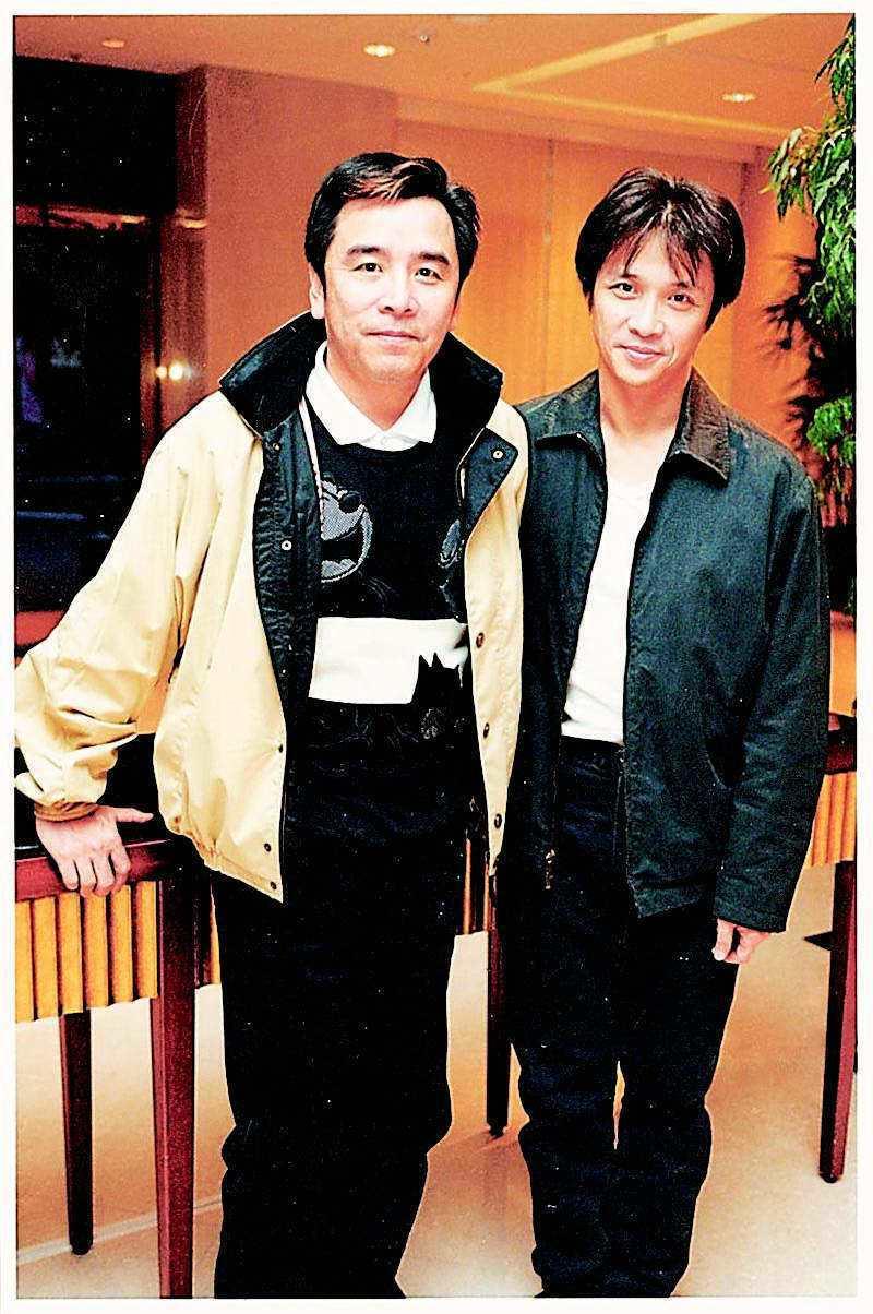 姜大衛(左)、董瑋曾參加金馬獎擔任頒獎人。圖/報系資料照