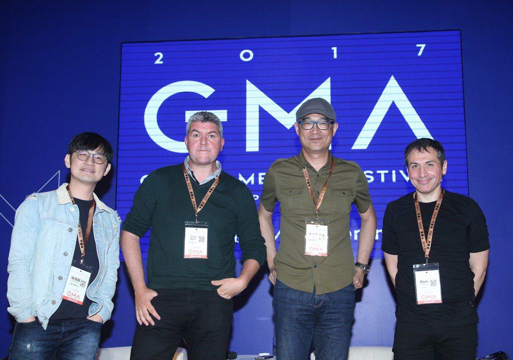 台灣索尼音樂音樂總監陳建騏(左起)、英國DWB Music Ltd 版權部門主管...