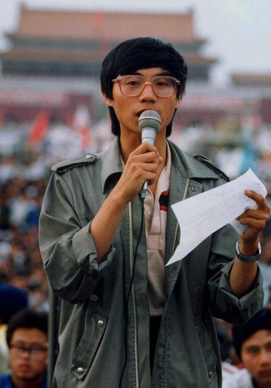 1989年就讀北京大學期間,王丹成為天安門學運領袖。 本報資料照片