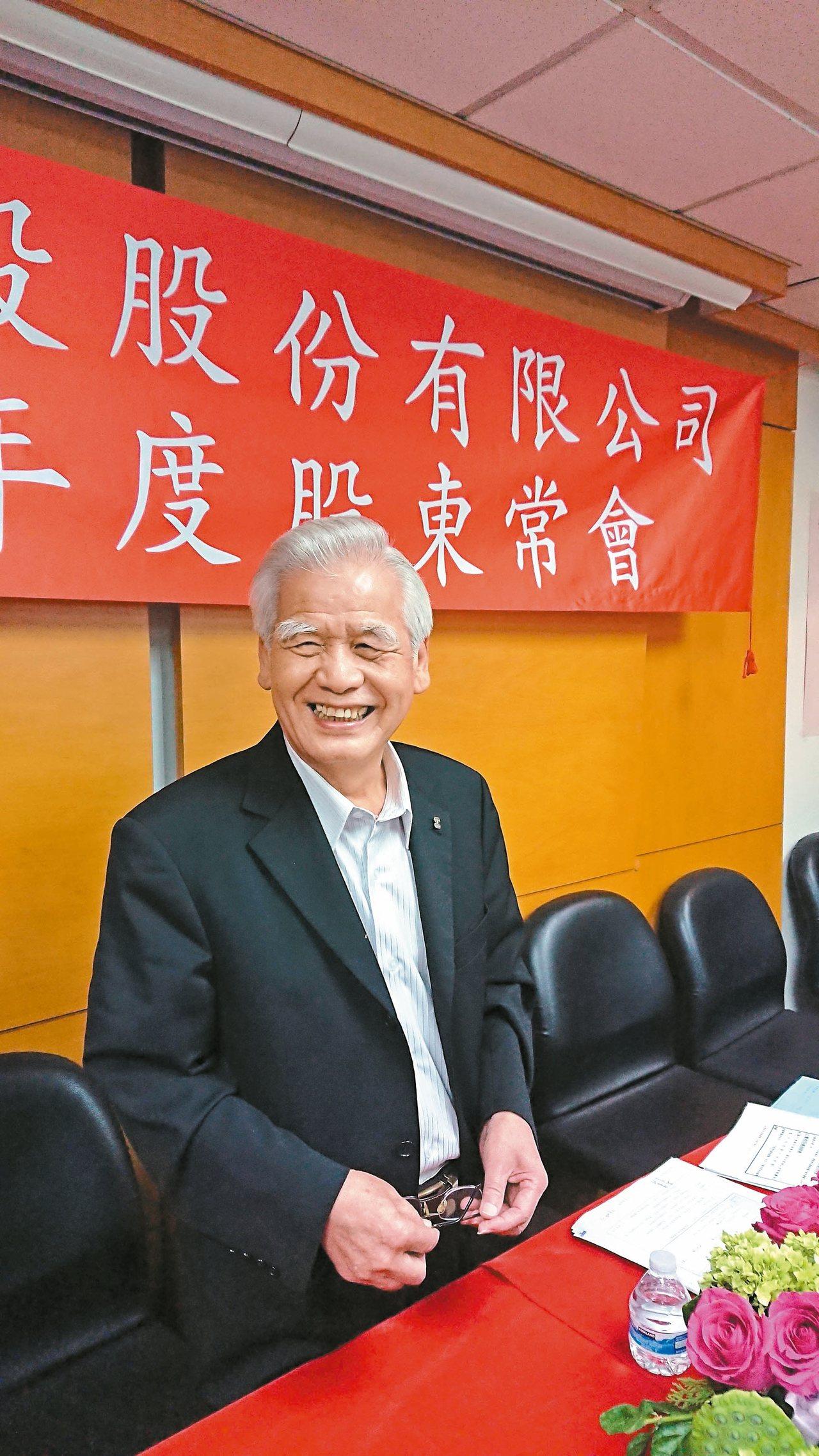 長虹建設董事長李文造 記者陳美玲/攝影