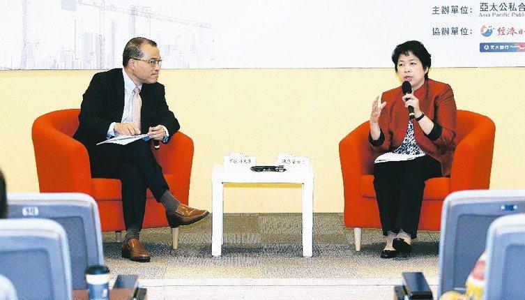 亞太公私合夥建設(PPP)發展協會昨天舉辦第一屆台北PPP論壇,協會理事長葉匡時...