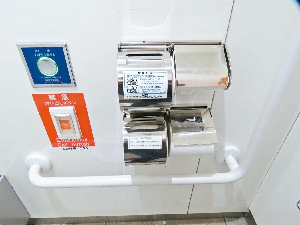 廁紙多,不怕用光。 記者雷光涵/攝影、NEXCO中日本公司/提供