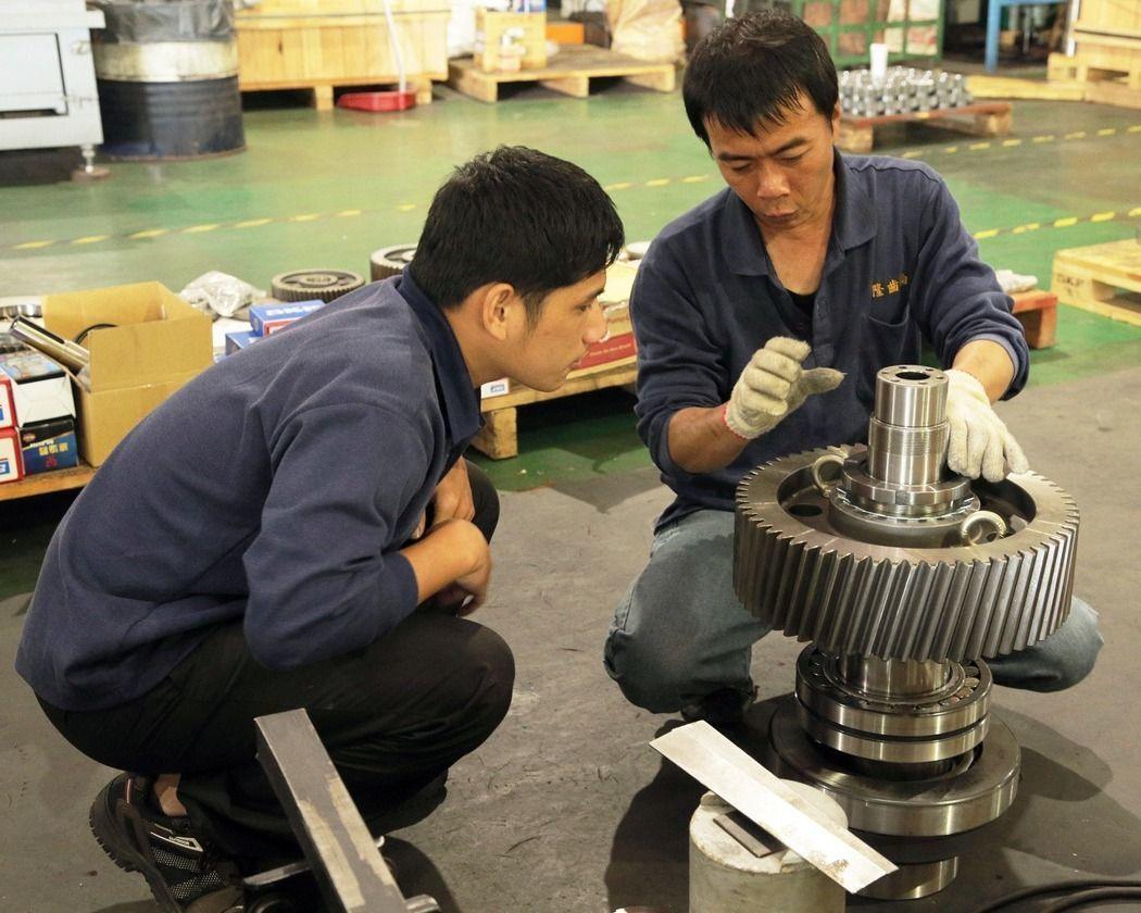 台南三隆齒輪的產品被譽為「台灣之光」,展現台灣機械製造實力。記者劉學聖/攝影