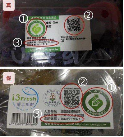 台北市議員日前踢爆,有人長期在網路直銷的彰化縣巨峰葡萄之生產履歷涉嫌造假。(聯合...