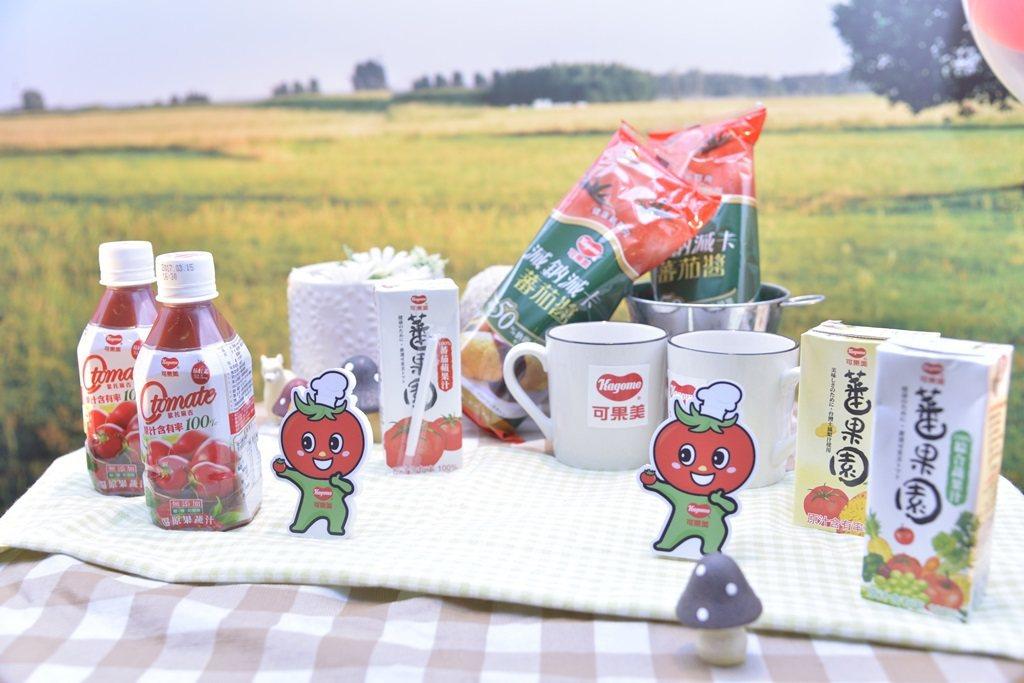 台灣可果美迎合市場需求推出減鈉減卡蕃茄醬、100_蕃茄蘋果汁、100_鳳梨綜合蔬...