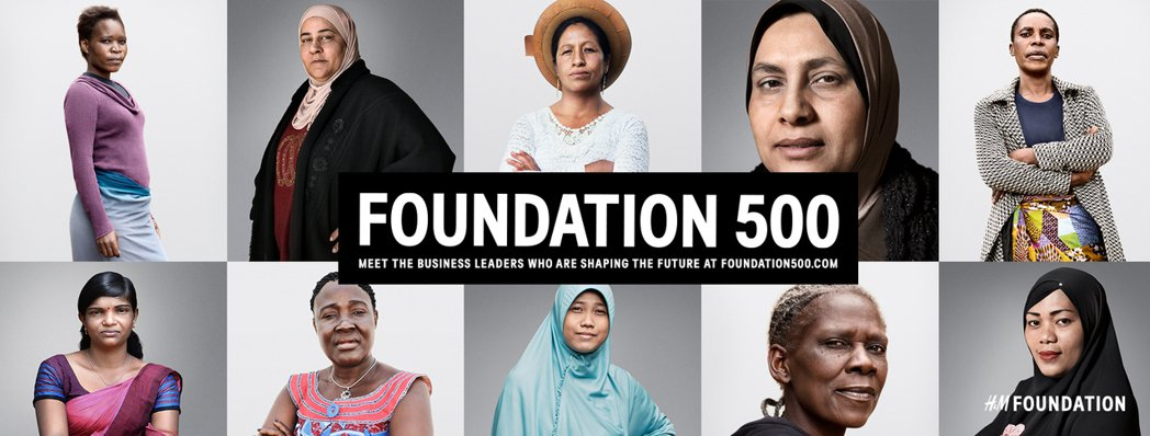 H&M今天發表「Foundation 500」– 500 位女性商業領袖計畫,H...