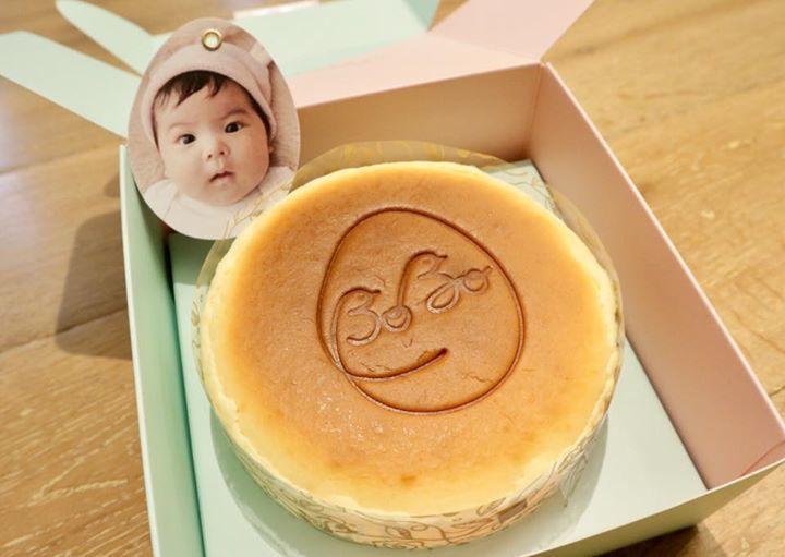 修杰楷與賈靜雯發送女兒Bo妞彌月蛋糕。圖/摘自臉書