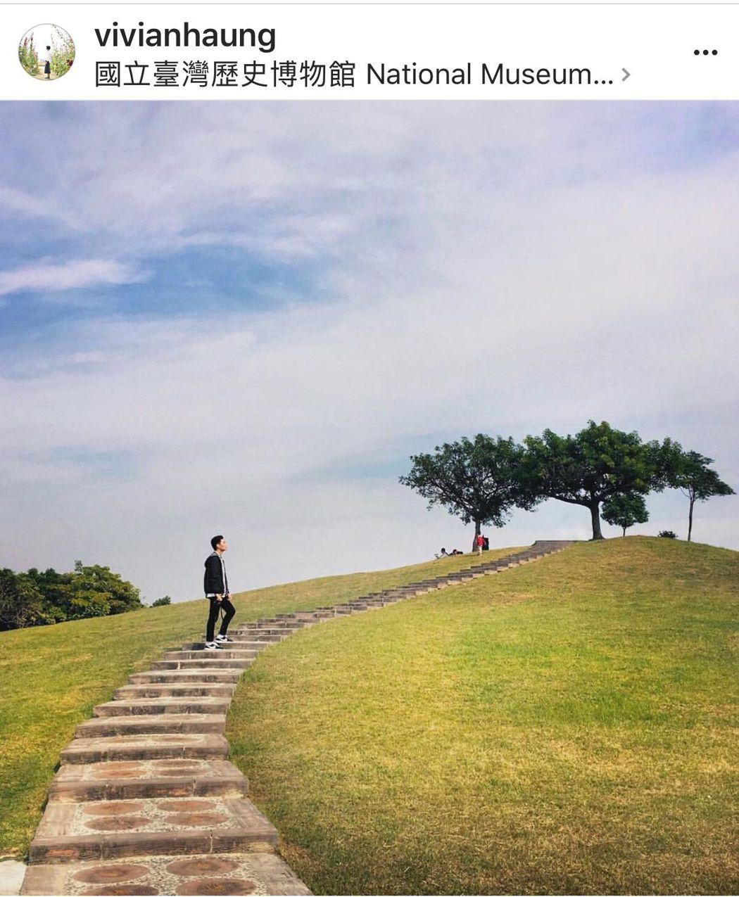 香菇在台灣歷史博物館拍下與眾不同的美照。圖/vivianhaung提供